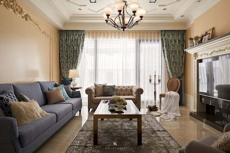 托斯卡尼.Giorno|Tuscan Giorno:  客廳 by 理絲室內設計有限公司 Ris Interior Design Co., Ltd.