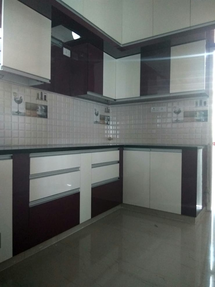 A 3 BHK Flat : asian  by Exinfra Projects,Asian Plywood