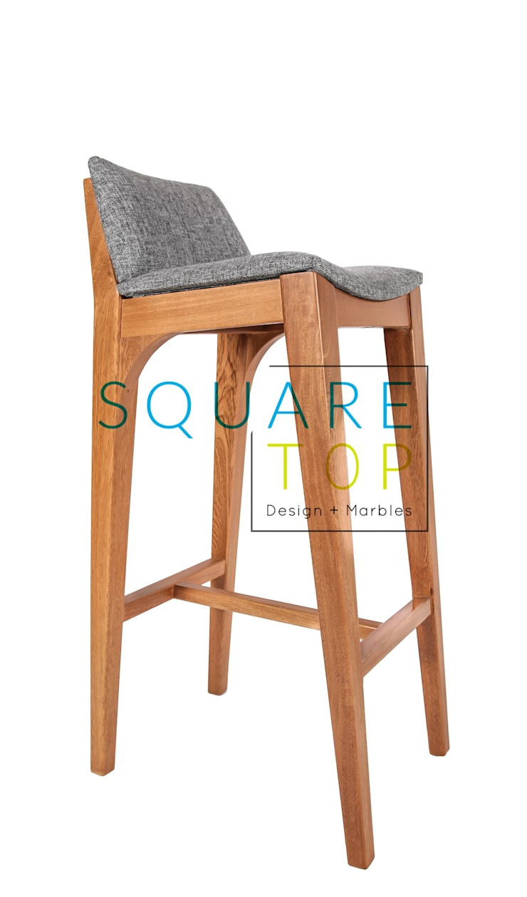 Silla de bar Versiliana, diseño escandinavo.: Hogar de estilo  por SquareTop Design
