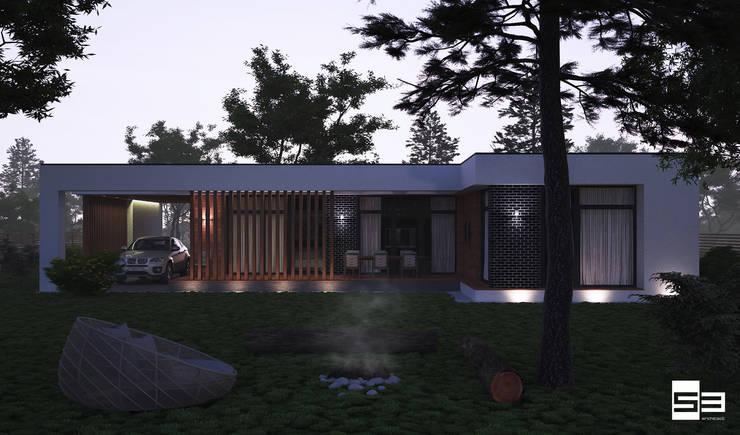 Проект современного одноэтажного дома в России:  в . Автор – Sboev3_Architect