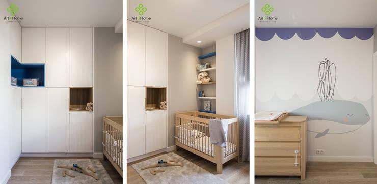 Nursery/kid's room by Art of home, Modern