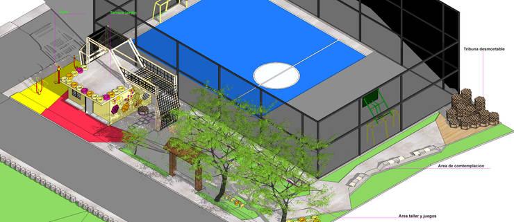 Isometria U.D.I Veracruz: Terrazas de estilo  por Taller de Desarrollo Urbano