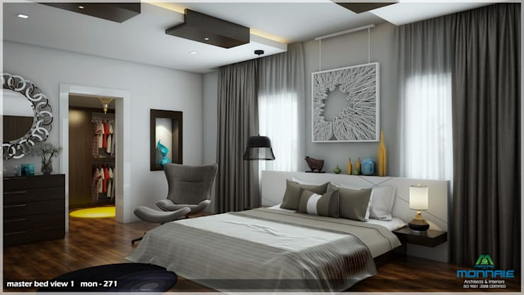 Bright and Energetic Design: classic Bedroom by Premdas Krishna