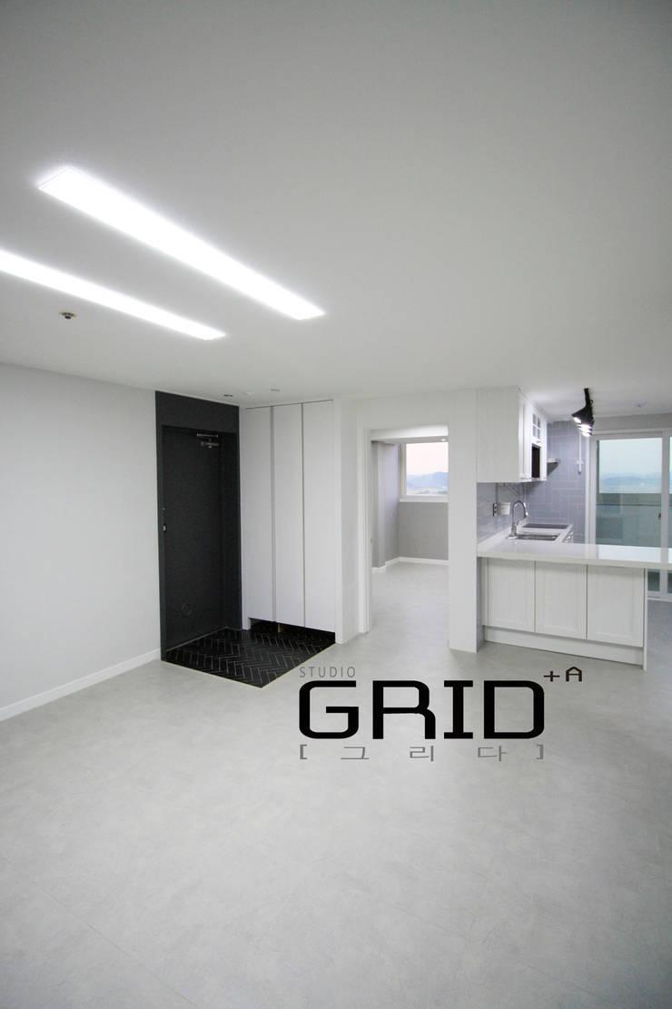 확트인 거실: Design Studio Grid+A의  거실,모던