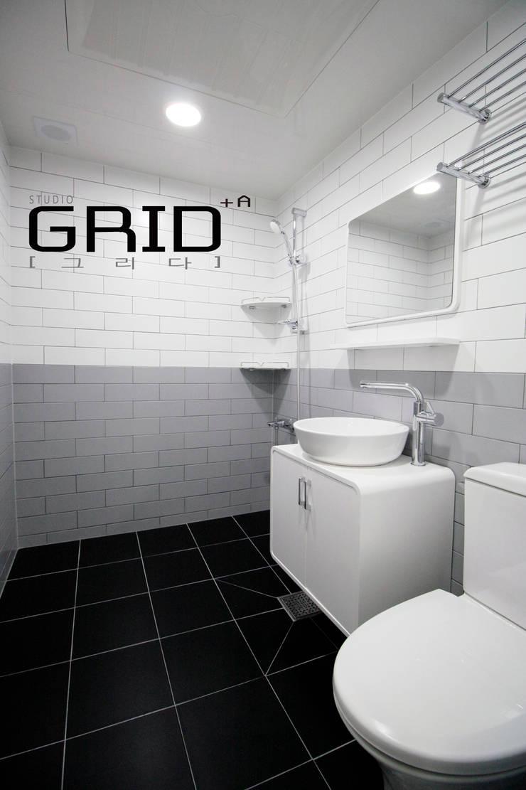 온라인집들이 욕실: Design Studio Grid+A의  욕실,모던