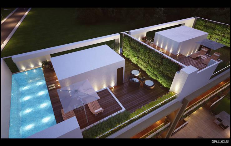 Row Houses:  Pool by DA Designs