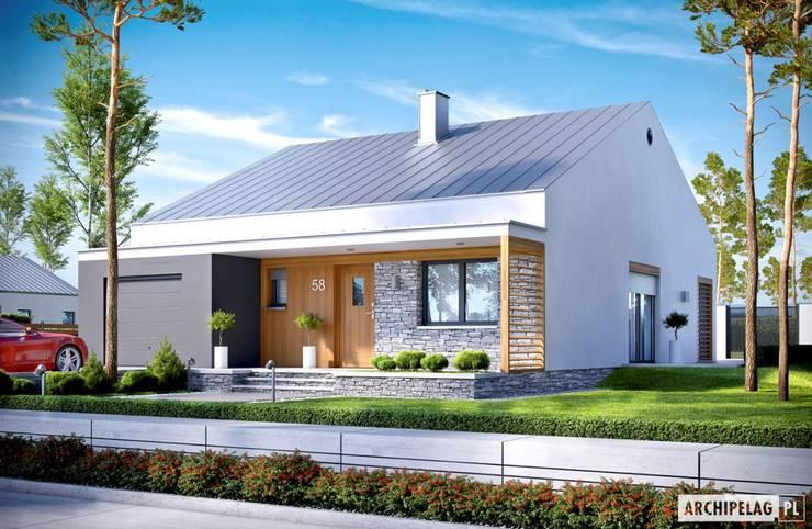Ralf II G1 ENERGO PLUS - mały dom, który zachwyca : styl , w kategorii Domy zaprojektowany przez Pracownia Projektowa ARCHIPELAG