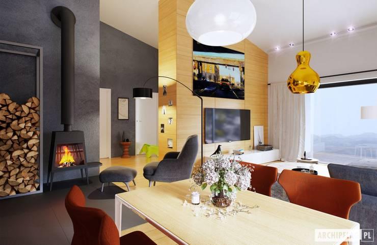 modern Dining room by Pracownia Projektowa ARCHIPELAG