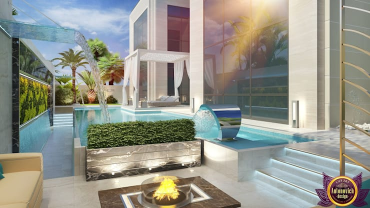 Beautiful landscape design from Katrina Antonovich:  Garden by Luxury Antonovich Design