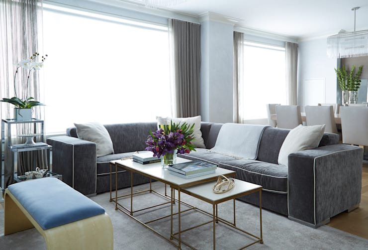 New York City Family Home Living Room By Jkg Interiors