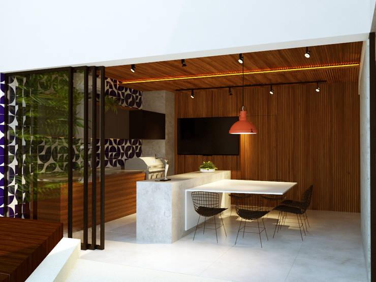 Terrazas de estilo  por Macro Arquitetos
