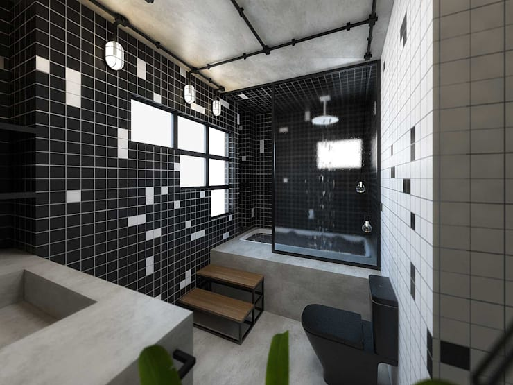 Bathroom by TÉRREO arquitetos