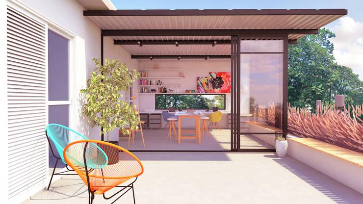 Oficinas de estilo  por Macro Arquitetos