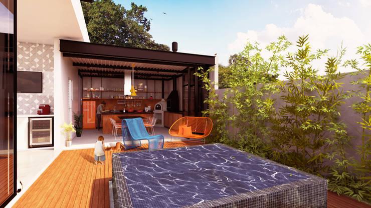 Casas de estilo  por Macro Arquitetos