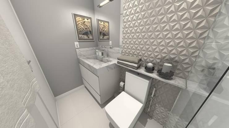 Banho Casal: Banheiros modernos por Gustavo Bodini | Designer de Interiores