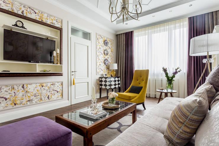 Projekty,  Salon zaprojektowane przez N-HOME | Ната Хатисашвили