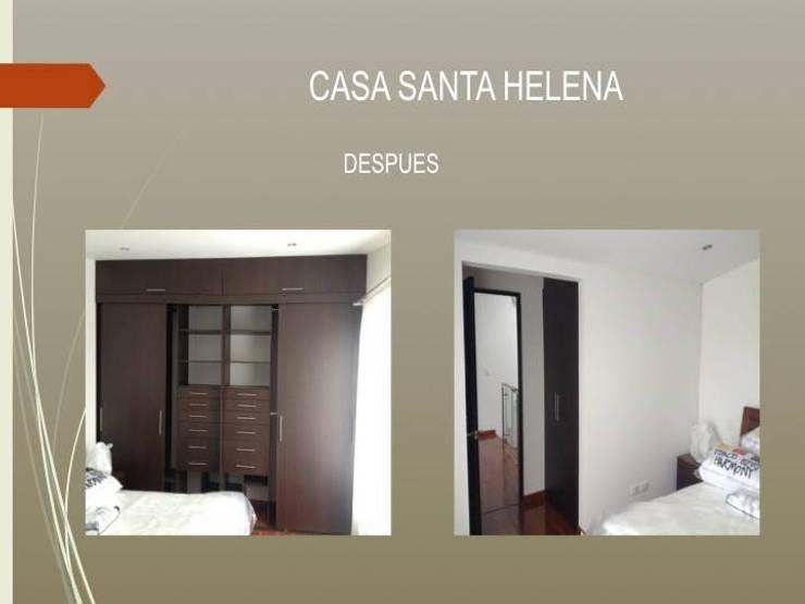 Habitación principal:  de estilo  por Erick Becerra Arquitecto