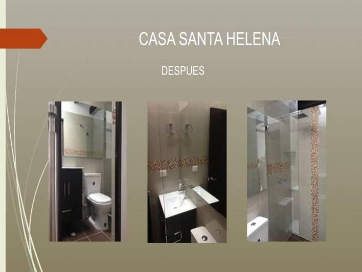 Baño 2 piso:  de estilo  por Erick Becerra Arquitecto