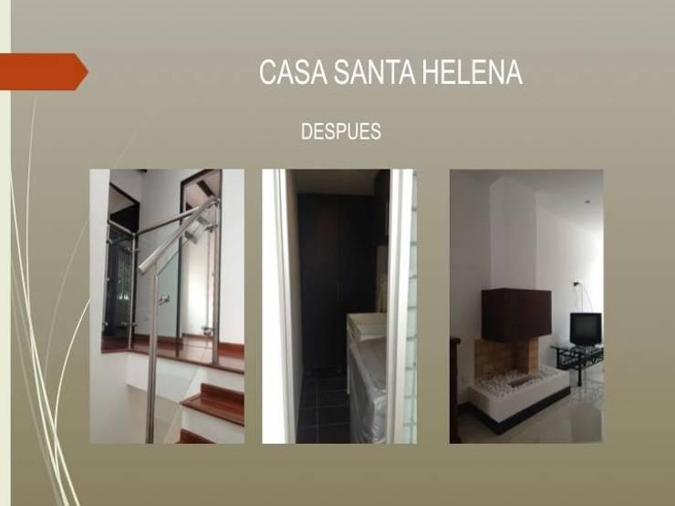 Escaleras, patio ropas y chimenea:  de estilo  por Erick Becerra Arquitecto