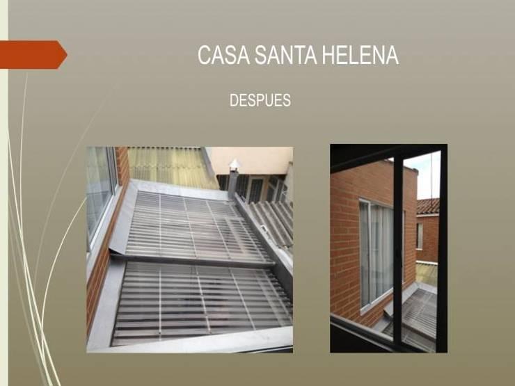 Cubierta patio :  de estilo  por Erick Becerra Arquitecto