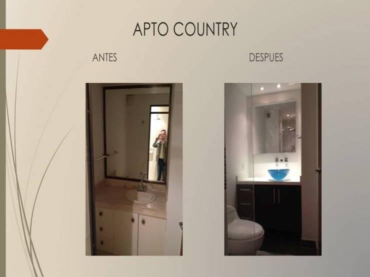 Baño habitaciones:  de estilo  por Erick Becerra Arquitecto