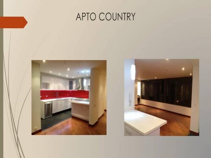 Cocina sala comedor:  de estilo  por Erick Becerra Arquitecto