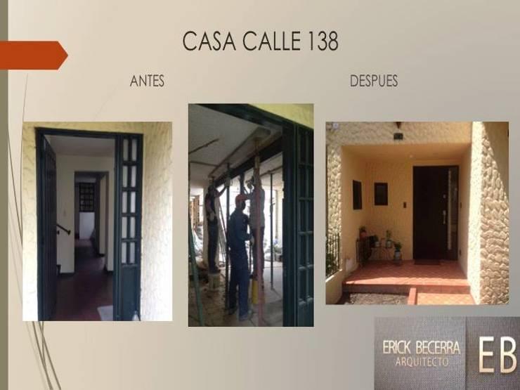Acceso casa:  de estilo  por Erick Becerra Arquitecto