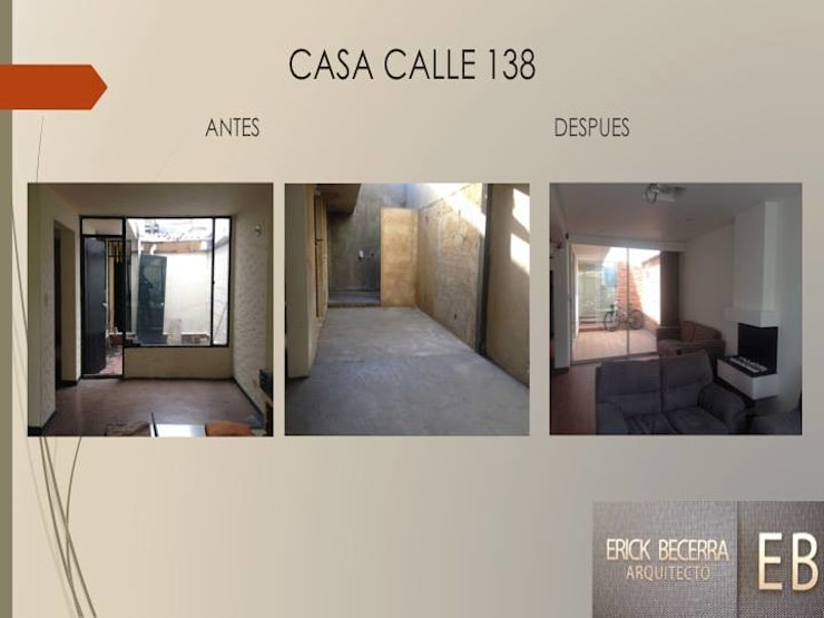 Sala:  de estilo  por Erick Becerra Arquitecto