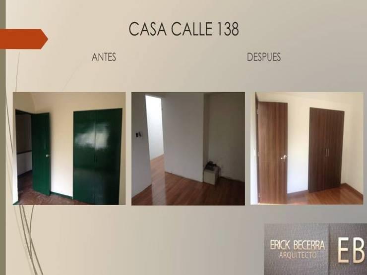 Puertas y Closets:  de estilo  por Erick Becerra Arquitecto