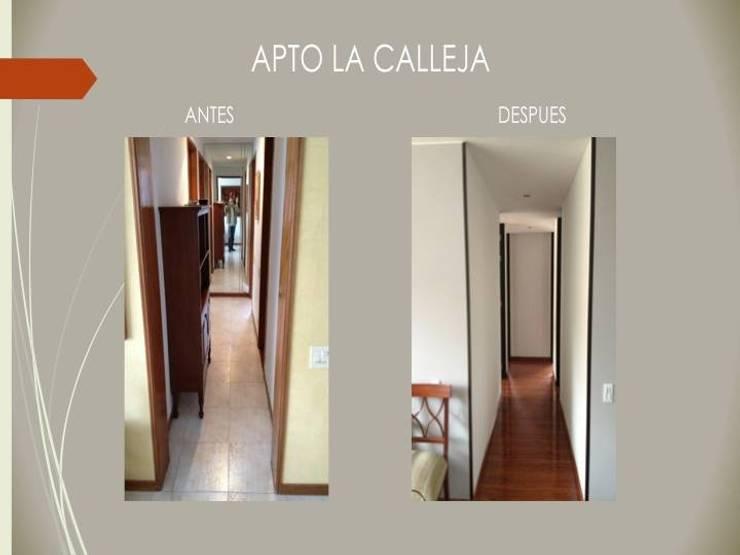 Hall Habitaciones:  de estilo  por Erick Becerra Arquitecto