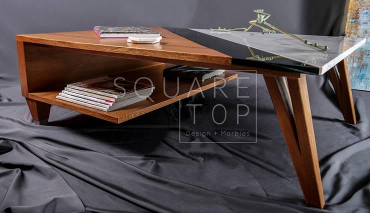 Mesa de centro Versiliana, elegancia y exclusividad.:  de estilo  por SquareTop Design, Escandinavo Mármol