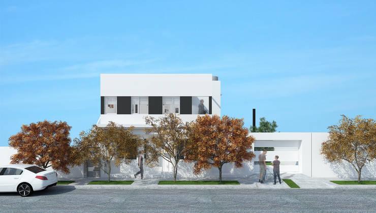Vivienda en P.A. - Exterior frente: Casas de estilo  por LK ESTUDIO