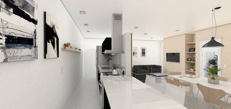 Vivienda en P.A. - Interior: Cocinas de estilo  por LK ESTUDIO