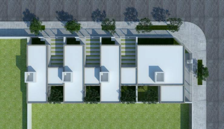 Imagen Aérea del complejo : Casas de estilo  por LK ESTUDIO