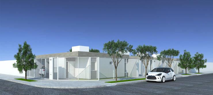 Imagen frente en esquina: Casas de estilo  por LK ESTUDIO