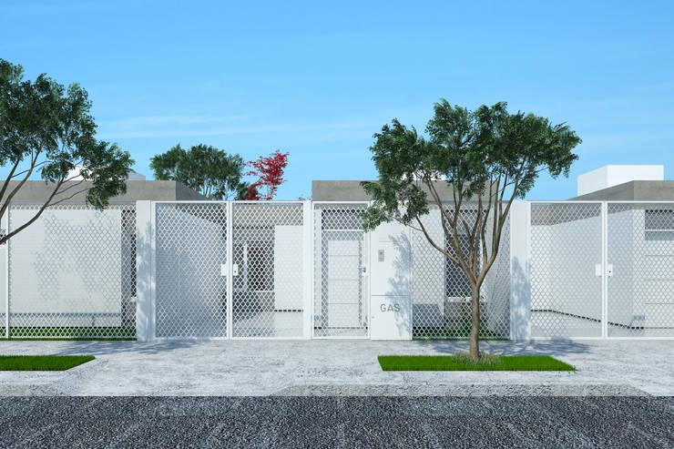 Imagen frente unidad individual de 50m2: Casas de estilo  por LK ESTUDIO