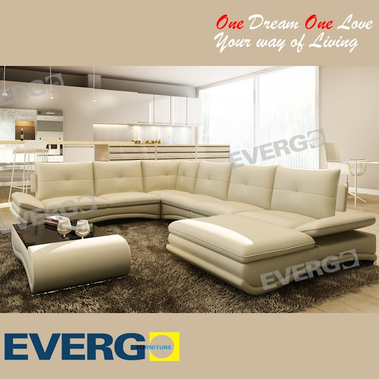 LIVING ROOM SOFA: modern Living room by CHINA BUSiiNESS SERVICES