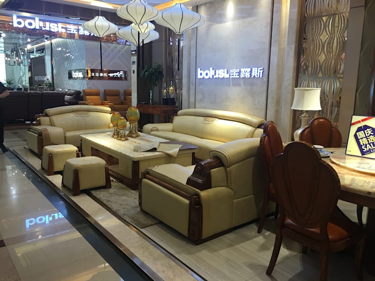 LEATHER SOFA: modern Living room by CHINA BUSiiNESS SERVICES