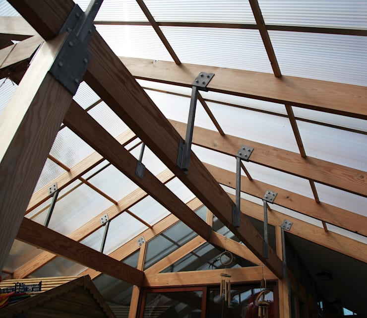 Boscastle Pre-school timber structure:  Schools by Innes Architects