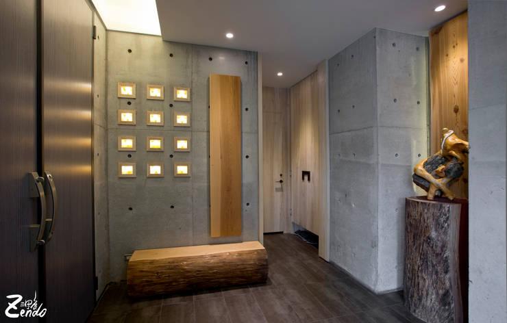 心靈會館:  走廊 & 玄關 by Zendo 深度空間設計