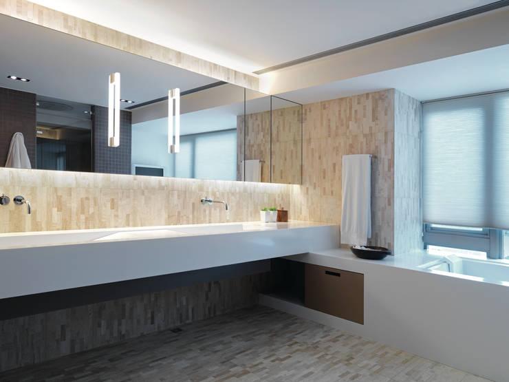 陳宅 Chen Residence:  浴室 by  何侯設計   Ho + Hou Studio Architects