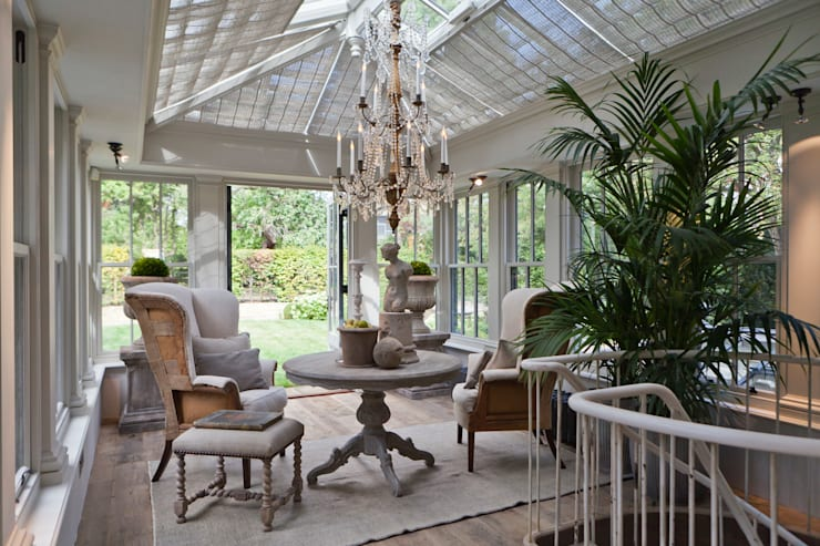 Dual Level Orangery and Rooflights Transform a London Townhouse:  Conservatory by Vale Garden Houses