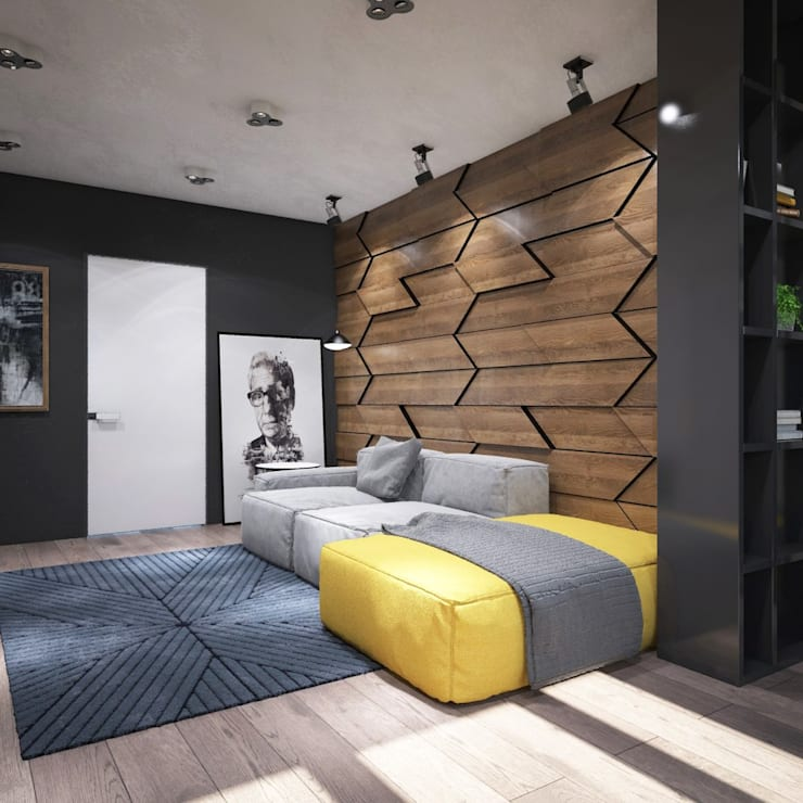 industrial Living room by Interior designers Pavel and Svetlana Alekseeva