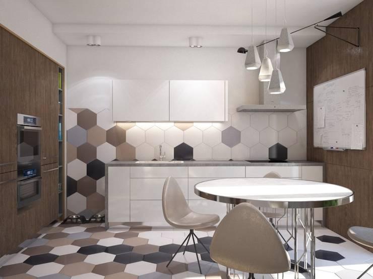 : Cocinas de estilo  por Interior designers Pavel and Svetlana Alekseeva