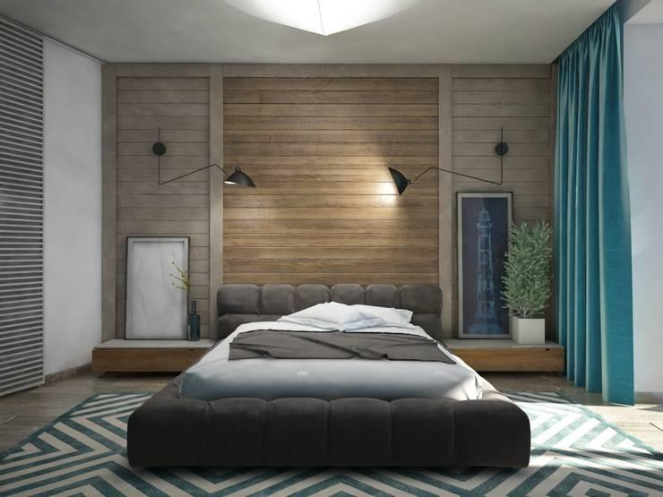 Schlafzimmer von Interior designers Pavel and Svetlana Alekseeva