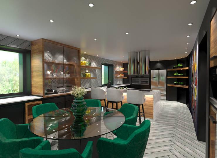 مطبخ تنفيذ Tiago Martins - 3D