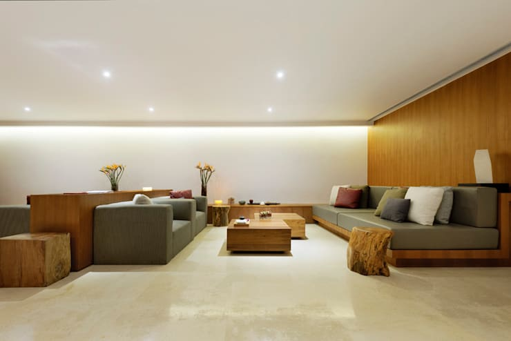 曦軒水療館   XiXuan Medi-Spa:  客廳 by  何侯設計   Ho + Hou Studio Architects
