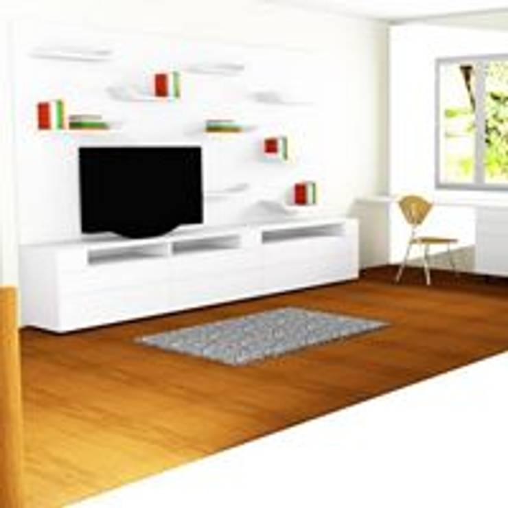 RENDER ESTUDIO:  de estilo  por ARENO Diseño de espacios, Moderno Aglomerado