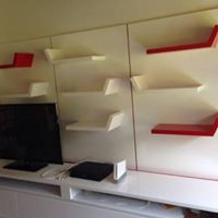 ESTUDIO TERMINADO:  de estilo  por ARENO Diseño de espacios, Moderno Aglomerado