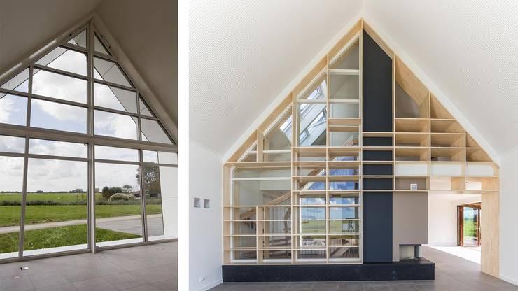 Woonhuis Bonkelaarsdijk:  Woonkamer door GeO Architecten